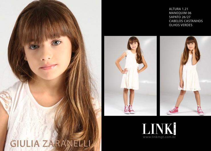 Modelo Giullia Zaranelli na campanha da marca Jolies Enfants
