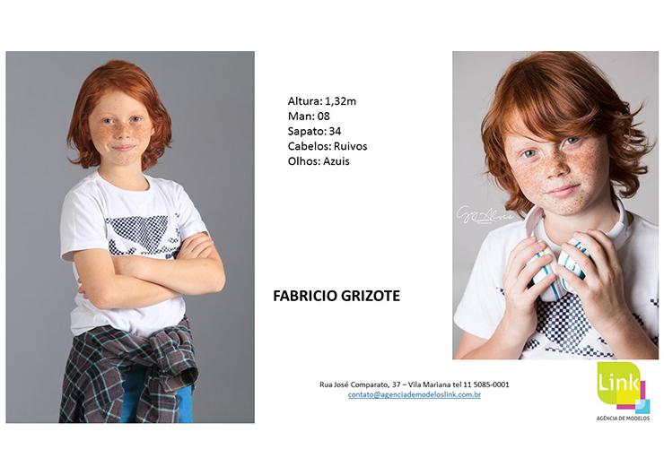 Modelo Link, Fabricio Grizote, na campanha da Riachuelo