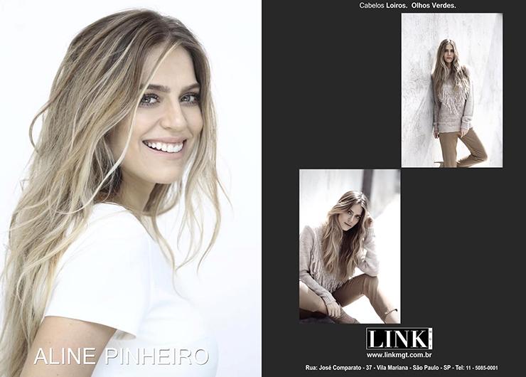 Modelo Aline Pinheiro aprovada pela marca Raja