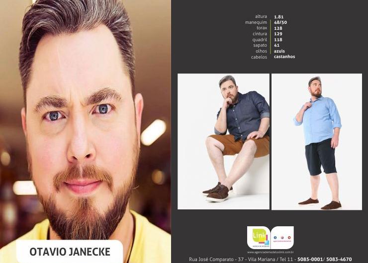 Modelo Otavio Janecke na campanha Riachuelo